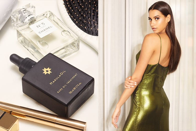 MarulaOil How-To: Day to Night for Straight Hair Styles