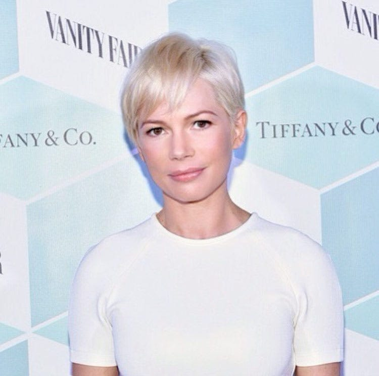 Michelle Williams Short Blonde Hairstyle @sheridanwardhair