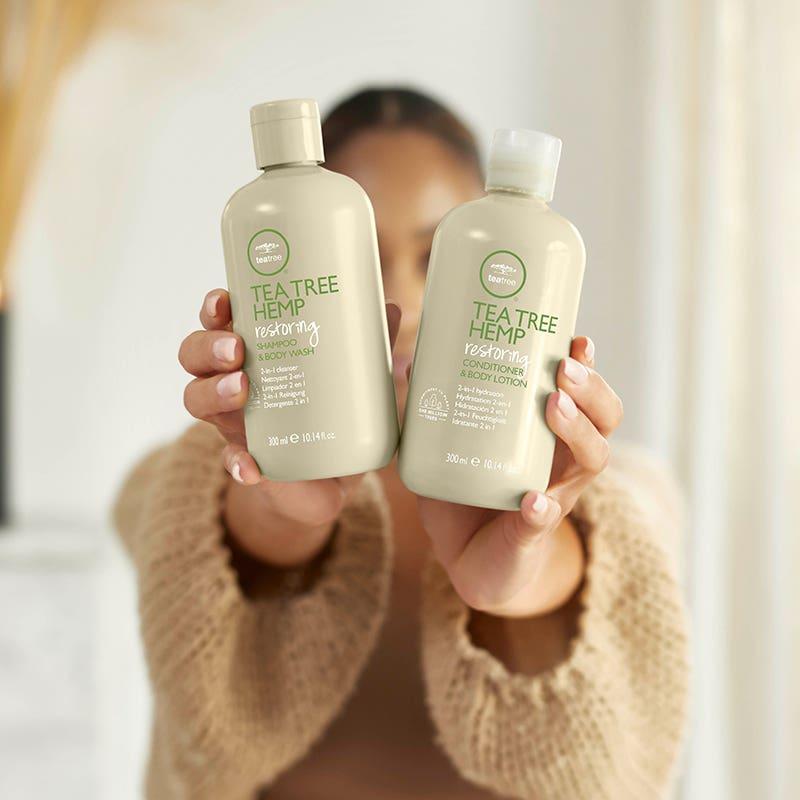 image of Tea Tree Hemp Restoring Shampoo & Body Wash + Restoring Conditioner & Body Lotion
