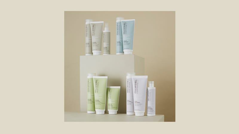 image of entire collection of Paul Mitchell Clean Beauty products