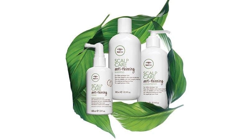 image of the tea tree scalp care brand models